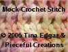 Mock Crochet Stitch by Tina Edgar
