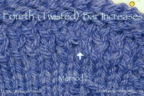 Knitting Stitches How To Decrease : KNITTING BAR INCREASE Free Knitting Projects